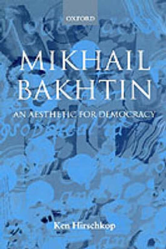 mikhail bakhtin work interpretation Mikhail bakhtin (1895-1975) had to bakhtin's work anticipated many concerns of modernist and but many aspects of poetry creation and interpretation.