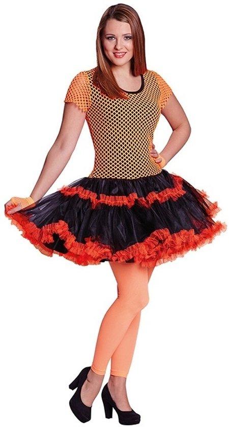 Rubie's Verkleedjurk Disco Dames Oranje/zwart Maat 40