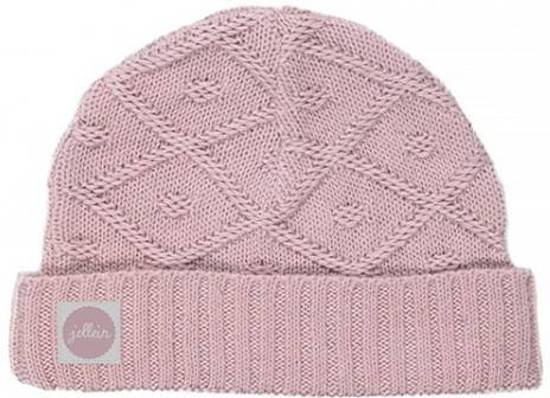 Jollein muts Diamond knit pink maat 40cm (vanaf 6 maanden)