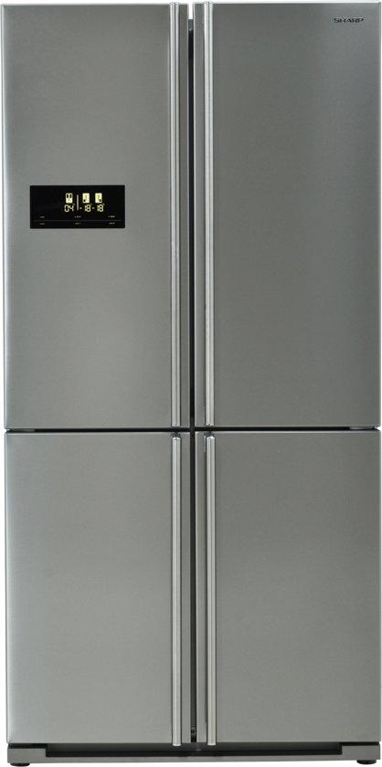 Sharp SJF1526E0IEU - Amerikaanse koelkast - RVS