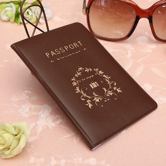 Paspoort hoesje Bruin   Beschermhoesje voor je paspoort   REBL