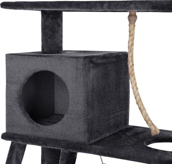 [en.casa]® Krabpaal - krabmeubel - 70x35x141cm - Grijs