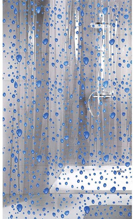 bol   kleine wolke - douchegordijn bubble navy blauw 180x200 cm