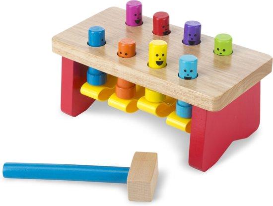 Afbeelding van Melissa & Doug Deluxe houten hamerbank met houten hamer - Hamertje Tik speelgoed