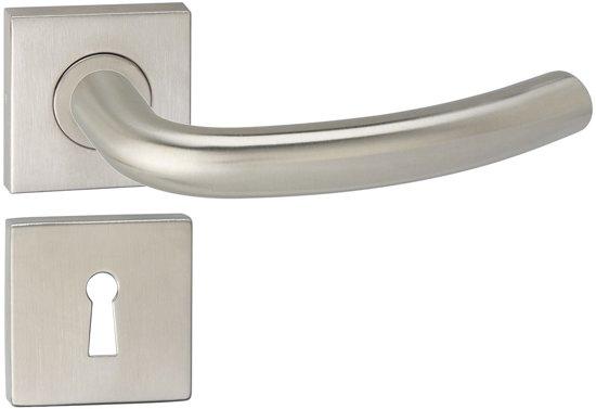 Impresso Preston Deurbeslag - Voor binnen - Vierkant met vierkant sleutelrozet - RVS