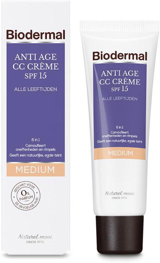 Biodermal Anti Age CC - Camouflerende crème met SPF15 - Medium tint - 50ml