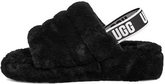 Ugg Fluff Yeah Slide Dames Sandalen - Black Maat 42 CGrU9z5g