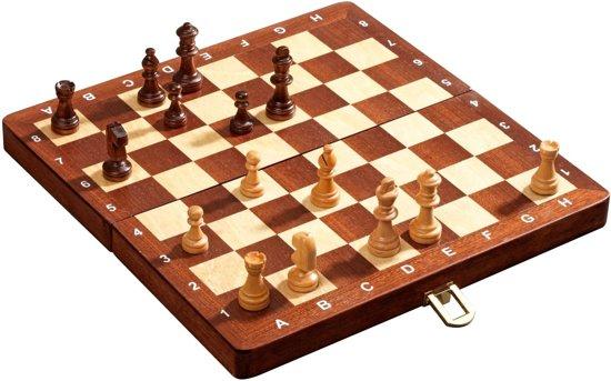 Philos schaak cassette De Luxe, magnetisch - reisformaat - veldmaat 30mm - Koning 48mm