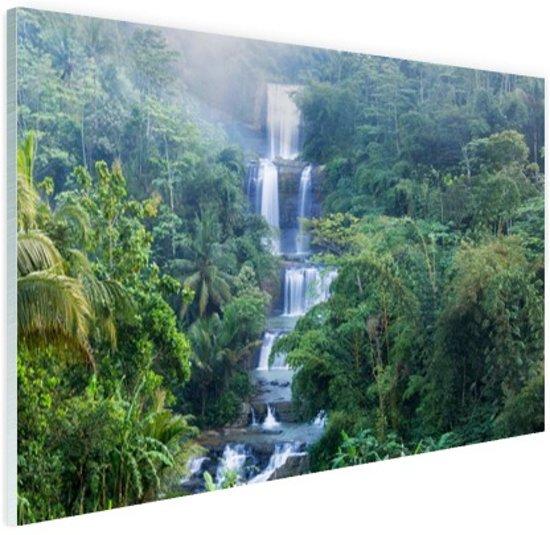 Nangga waterval Indonesie Glas 30x20 cm - klein - Foto print op Glas (Plexiglas wanddecoratie)