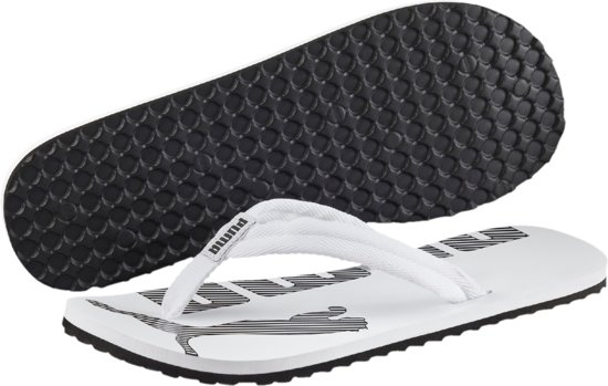 9f0f477fee9 PUMA Epic Flip V2 Slippers Unisex - White / Black - Maat 38