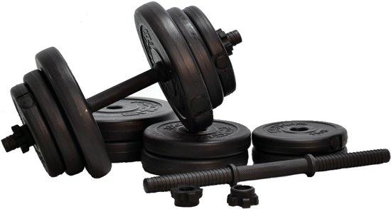 Verstelbare Dumbbellset - Focus Fitness - Totaal: 20 kg - 2 x 10 kg
