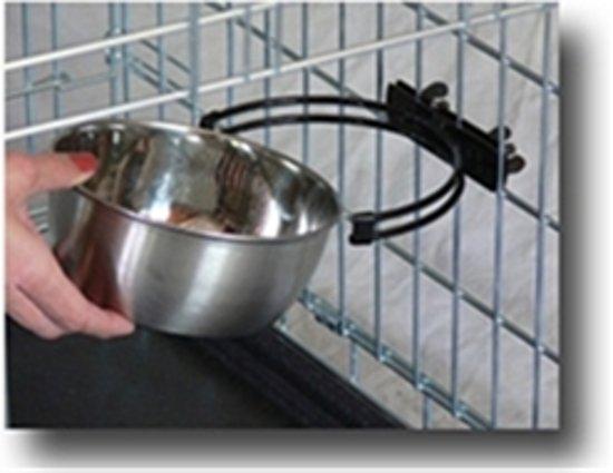 BENCH rvs voerbak of drinkbak snap'y met handig kliksysteem 592 ml