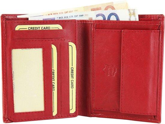 a7d00804454 bol.com | Akzent heren portemonnee - Billfold staand - rood - echt leer