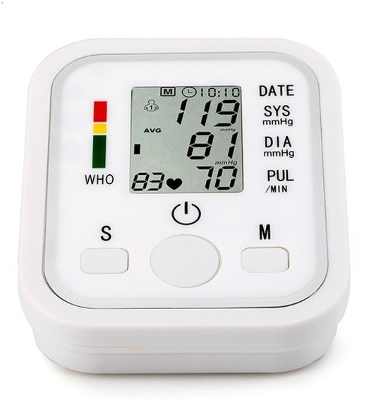 Bloeddrukmeter / bloeddruk monitor op batterijen + LCD scherm (bovenarm)