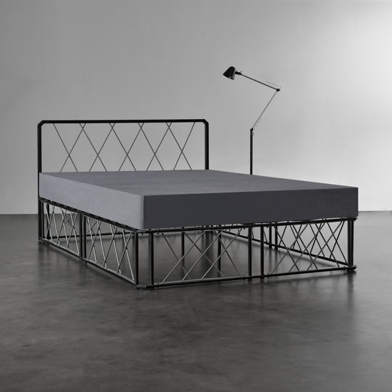 Zwart Bed 140x200.Bol Com En Casa Metalen Bedframe En Lattenbodem 140x200 Zwart
