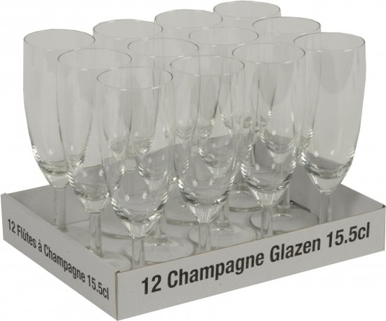Champagne glazen 12 stuks - 10 + 2 gratis