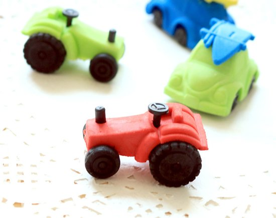 Gum Trekker tractor Rood - 3.5 cm