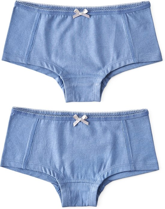 Little Label Meisjes Hipster (2 pack) - blauw - Maat 110-116