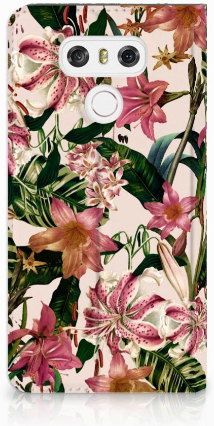 LG G6 Uniek Standcase Hoesje Flowers