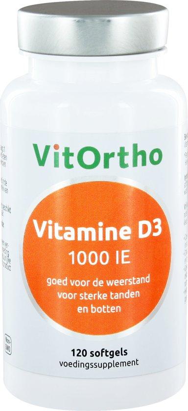 VitOrtho Vitamine D3 1000 IE 120 softgels