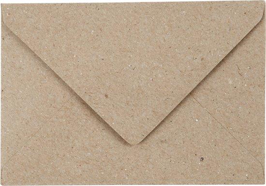 Gerecyclede Enveloppen, C7 7,8x11,5 cm, naturel, 50 stuks