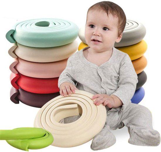 Hoekbeschermer om uw kind te beschermen tegen scherpe randen 23mm x 8mm x 2m   Beige