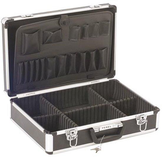 Aluminium Gereedschapskoffer 455 X 330 X 152 Zwart
