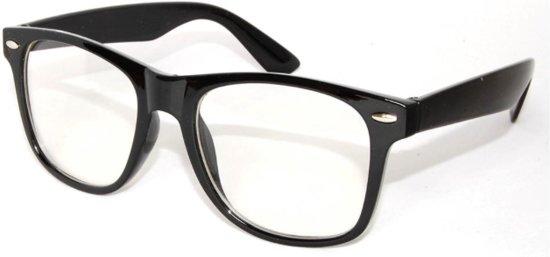 Nerdbril zwart van JY&K met fluwelen hoesje