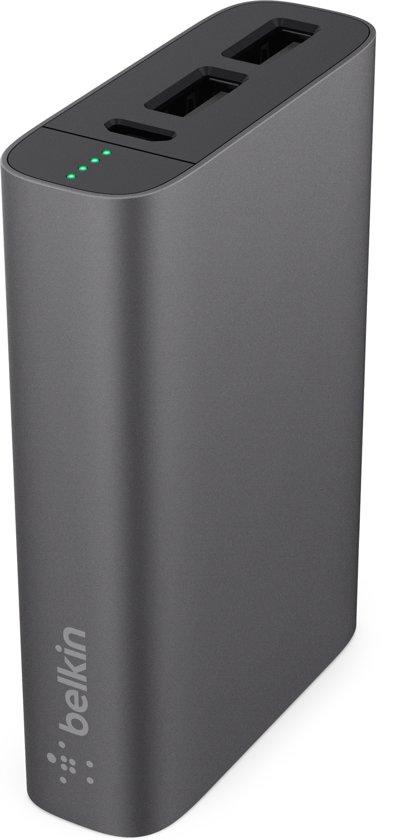Belkin MIXIT Metallic Powerbank 6600 mAh - 3.4 A - Grijs
