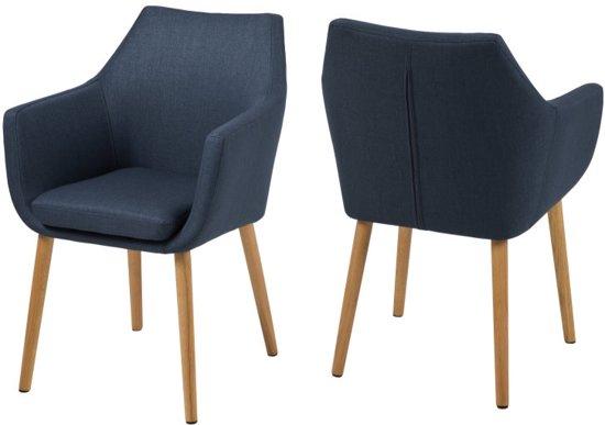 Bol fyn noortje stoel met armleuning donkerblauw