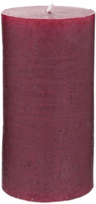 Rustic Cylinderkaars wijnrood (13 cm) Valentinaa