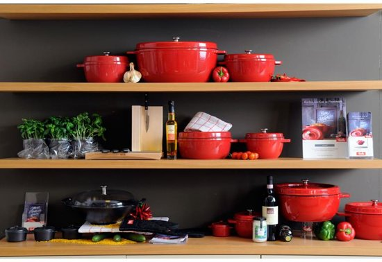 Fissler arcana braadpan, 23cm rood