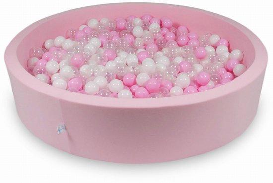 Ballenbak - 600 ballen - 130 x 30 cm - ballenbad - rond roze