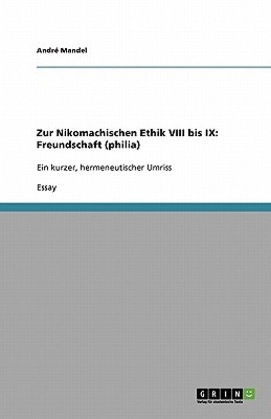bol.com   Zur Nikomachischen Ethik VIII Bis IX, André Mandel ...