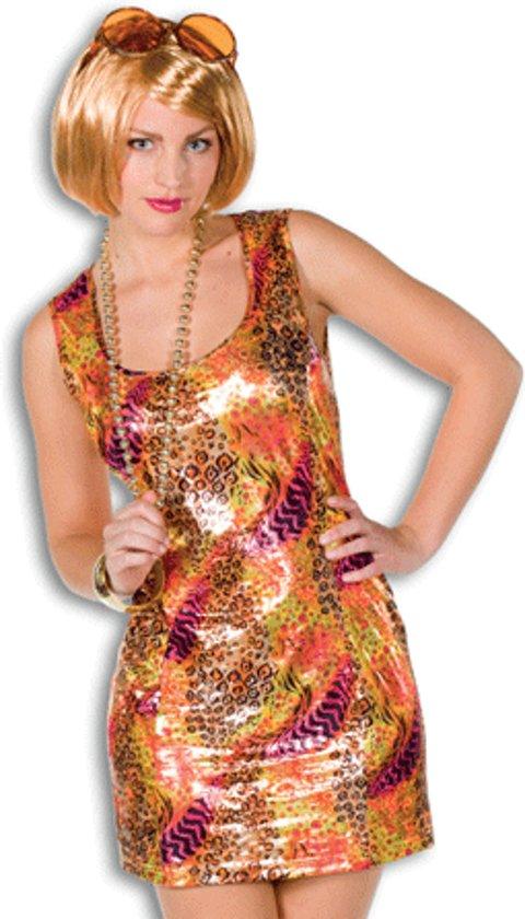 22ded00ee9f6c5 Dames disco jurk gekleurde print 38 (m)