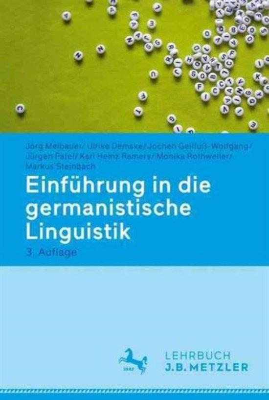 Einf hrung in Die Germanistische Linguistik