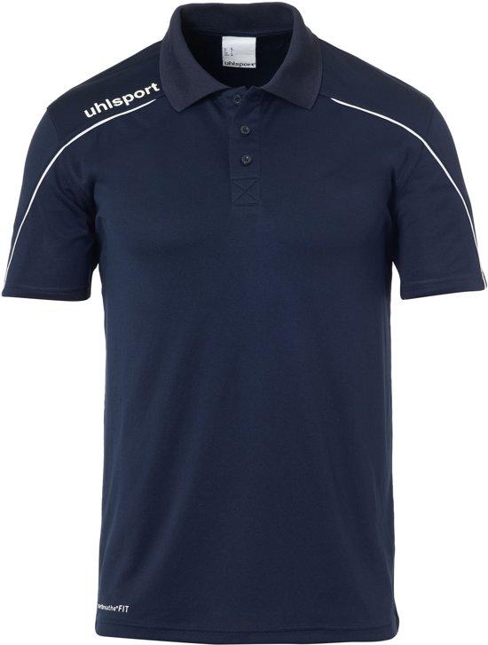 Uhlsport Stream 22 Polo Shirt Heren  Sportpolo - Maat L  - Mannen - blauw/wit