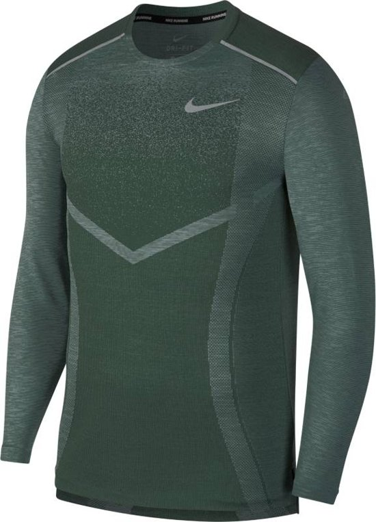 Nike Techknit Ultra Ls Sporttrui Heren - Fir/Aviator Grey - Maat 2XL