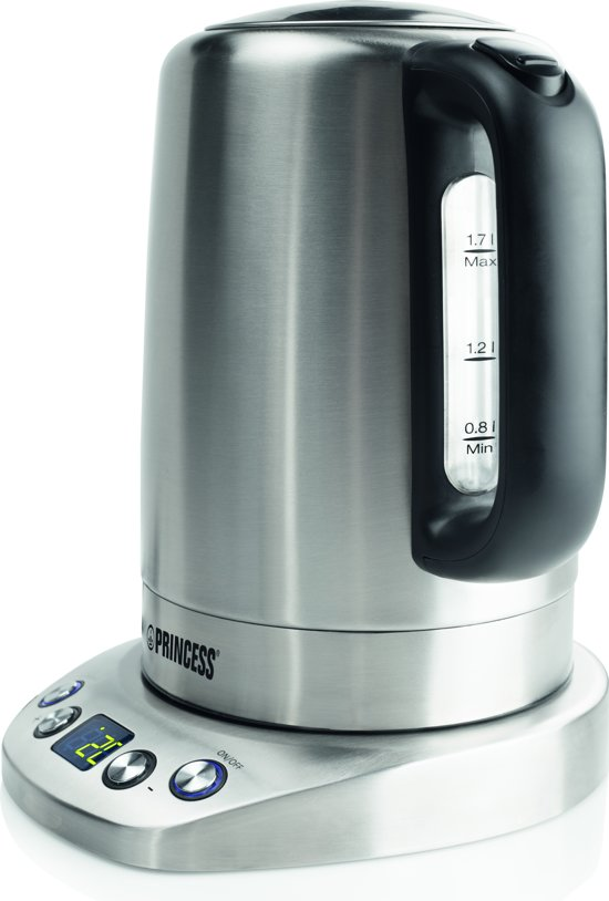 Princess 236002 Kettle Powerfull And Programmable Waterkoker - 1,7 L