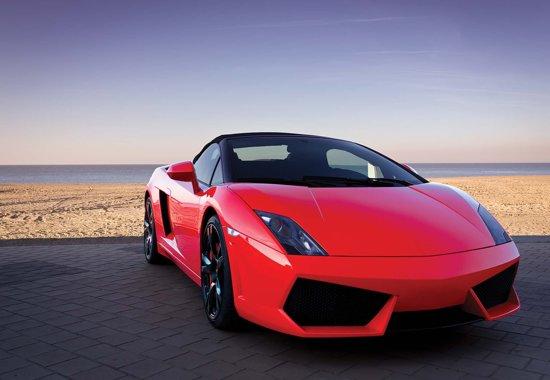 Fotobehang Sportscar  | XXXL - 416cm x 254cm | 130g/m2 Vlies
