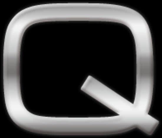 Chrome 3d plakletter Q van 2,5 cm