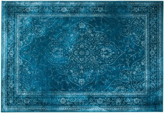 Zuiver Rugged - Vloerkleed - Turquoise - 200x300cm