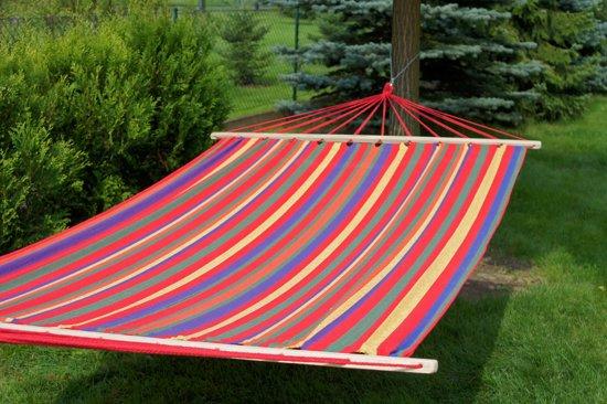 Potenza- 2 persoons hangmat / twee persoons hangmat met spreidstok ( inclusief Hangmatbevestiging)
