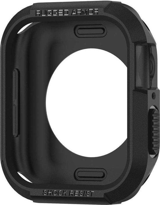 Spigen Apple Watch 4 (44mm) Rugged Armor Hoesje - Zwart