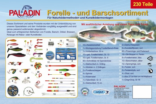 Paladin Starterskit - Forel/Baars - 230 delig