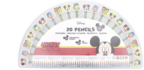 Mickey Disney Kleurpotloden set - Kinder Kleurpotloden set - Mickey kleurpotloden