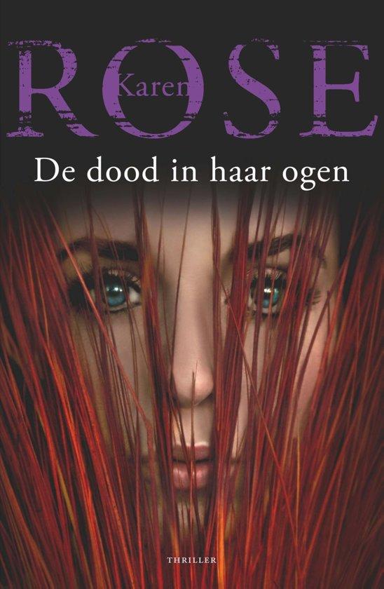 Boek cover De dood in haar ogen van Karen Rose (Onbekend)