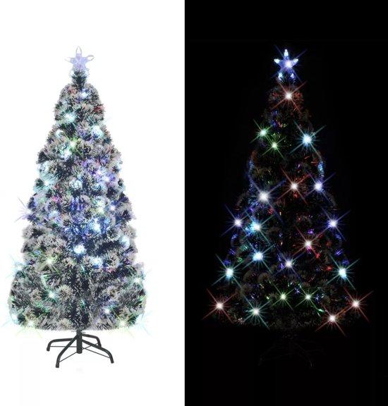 vidaxl kunstkerstboom standaard led verlichting 180 cm 220 takken