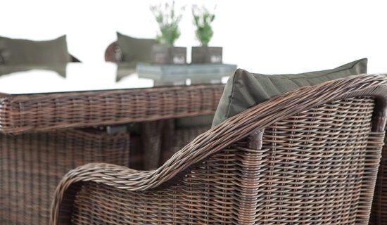 Clp Candela - Dining Tuinset - 5mm Poly-rotan - Kleur rotan : bruin gemeleerd Overtrek : antraciet