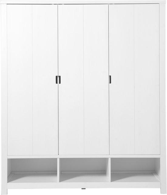 Bolcom Bopita 3 Deurskast Basic Wood White Wash Excl